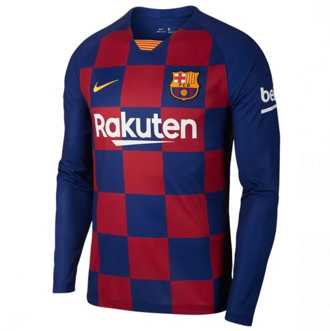 Barcelona 19 20 Long Sleeve Home Jersey My Lucky Jersey