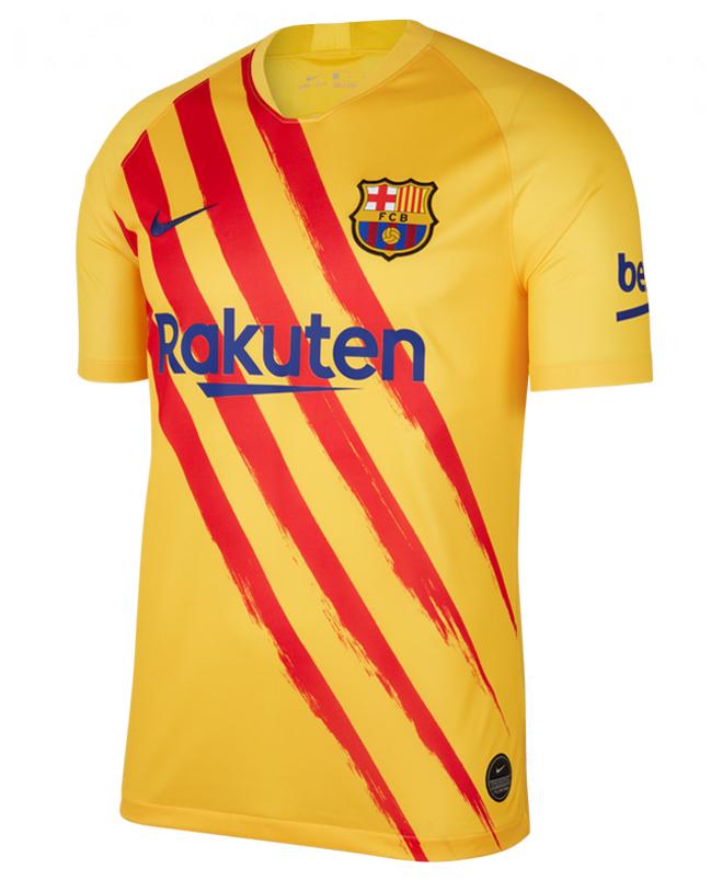 barcelona senyera yellow 19 20 fourth jersey my lucky jersey barcelona senyera yellow 19 20 fourth jersey